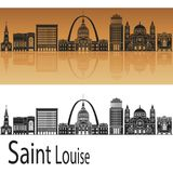 St- LouisSkyline Lizenzfreies Stockbild