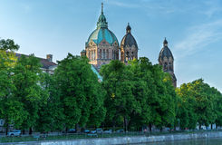 St. Lucas church in Munich. Beautiful st. lucas church in Munich on a sunny day Royalty Free Stock Photo