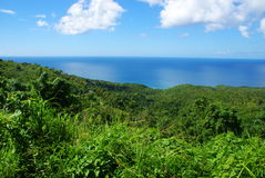 St Lucia. Beautiful green island of St Lucia, Caribbean Stock Photo
