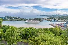 ST LUCIA, CARIBBEAN - SEPTEMBER 19, 2013: beautiful aerial view Royalty Free Stock Images