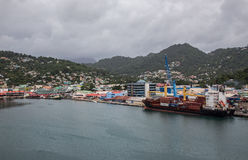 St. Lucia and Castries Harbor Royalty Free Stock Photo