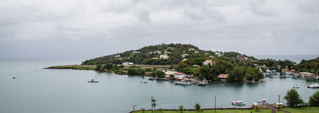 St. Lucia and Castries Harbor Stock Photo