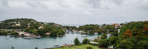 St. Lucia and Castries Harbor Royalty Free Stock Image
