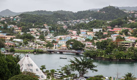 St. Lucia and Castries Harbor Stock Photography
