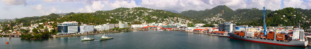 St Lucia, Castries una visión de capital Fotografía de archivo