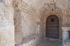 St Lucia church entrance door at jurandvor - Baska - Krk - Croat. Ia Royalty Free Stock Photos