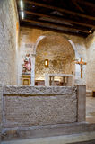 St Lucia church at jurandvor inside with Bascanska ploca vertical - Baska. Krk - Croatia Stock Image