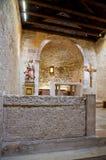 St Lucia church at jurandvor inside with Bascanska ploca vertical - Baska Stock Image