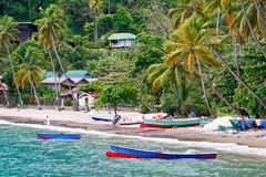 St. Lucia - Colorful Fishing Boats Royalty Free Stock Photos