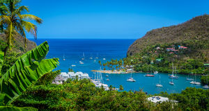 St Lucia Cove foto de stock royalty free