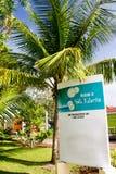 St Lucia dá-lhe boas-vindas Imagens de Stock