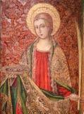 St Lucia eller Lucy - målning i Valencia arkivbilder