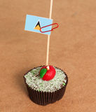 St. Lucia flag on a apple cupcake Stock Photography