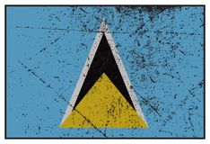 St Lucia flaga Grunged royalty ilustracja