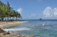 St Lucia gros holme i nord royaltyfri bild