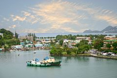 St. Lucia Harbor Arkivfoto