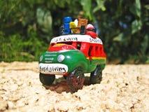 St Lucia, Karaiby transport, tana boogie autobus, pamiątka zdjęcie stock