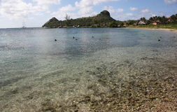 St Lucia karibisk ö Arkivbilder