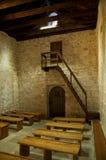 St Lucia kościół przy jurandvor inside z ławkami - Bask Obrazy Stock
