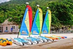 St Lucia - o divertimento da praia do Jalousie espera-o! Imagem de Stock