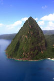 St. Lucia Petit Piton aerial royalty free stock photo