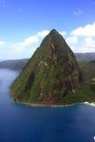 St. Lucia Petit Piton antenne Royalty-vrije Stock Foto