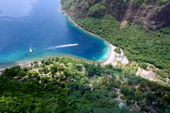 St. Lucia resort aerial Stock Photos