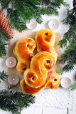 St Lucia Saffron Buns imagem de stock