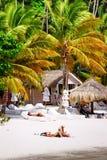 St. Lucia - Sunbathing in Paradise Royalty Free Stock Photos