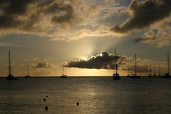 St Lucia sunset Royalty Free Stock Image