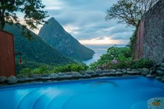 St. Lucia View 1 royalty free stock photos