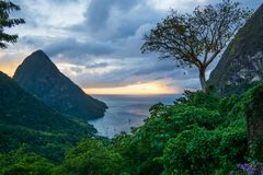 St. Lucia View 2 royalty free stock photography