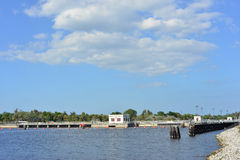St Lucie Lock. On the St Lucie River in Florida royalty free stock photos