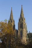 St Ludmila Church during fall Stock Photography