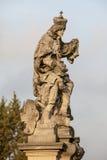 波希米亚的圣Ludmilla雕象  图库摄影