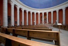 St Ludwig's Interior. St. Ludwig�s Church, Darmstadt, Germany. This photo transfers beautifully into black & white Stock Photo