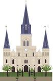 St ludwika katedra ilustracja wektor