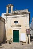 St Luigi Gonzaga Church. D'Otranto di Corigliano. La Puglia. L'Italia. Immagini Stock