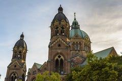 St Lukas Church in München, Bayern, Deutschland Lizenzfreies Stockbild