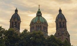 St Lukas Church, Munich arkivbilder