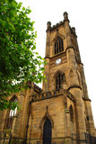 St. Luke Cathedral in Liverpool stock photo