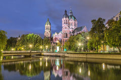St Luke Church, Munich Royaltyfri Foto