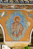 St. Luke in the frescoes of the monastery Bachkovski Royalty Free Stock Photography