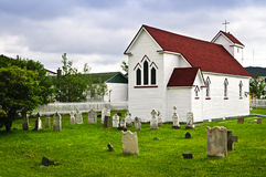 St. Luke's Church and cemetery in Placentia Stock Photography