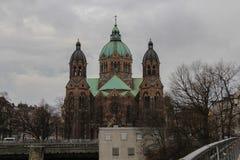 St- Luke` s Kirche, München deutschland Lizenzfreies Stockfoto