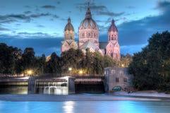 ST Lukes τη νύχτα Στοκ Φωτογραφίες