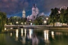 St Lukes i Munich Arkivbild