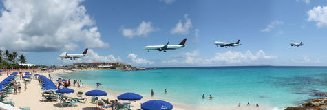 St Maarten Airport Photo libre de droits