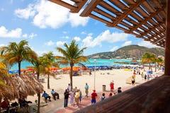 St. Maarten Beach Royalty-vrije Stock Fotografie