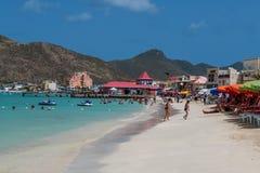 St Maarten Beach Landscape Immagine Stock Libera da Diritti
